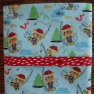 Little Fisherman Cotton Pillow Case fits Standard or Queen Size