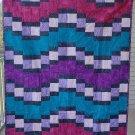 Patchwork Quilt Pieced Throw Jewel Tone Garden Path - Handmade Cotton Batik