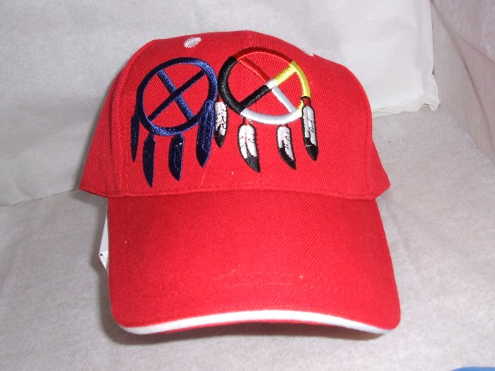Double Medicine Wheel Baseball Style Hat