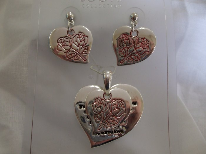 Rose Earring and Pendent Set