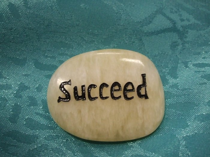 Spirit Stone With The Word Succeed