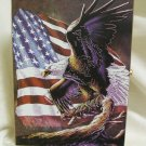 Wooden Box With A Eagle And An American Flag