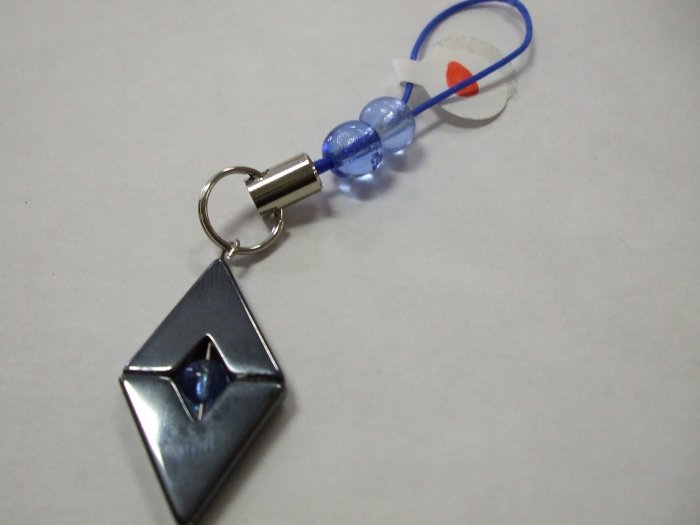 Hematite Cell Phone Charm Hand Crafted