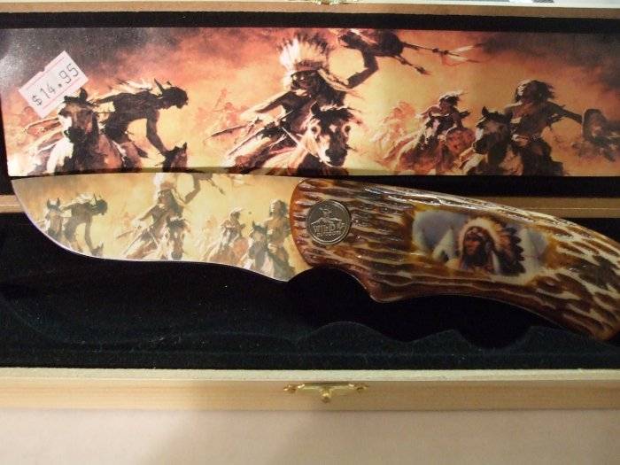 Stunning Wild Outdoor Limited Edition Native Design Knife