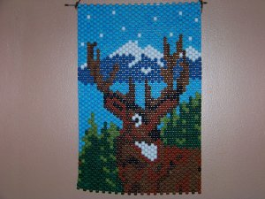 Whitetail Deer Wall Hanging Handcrafted