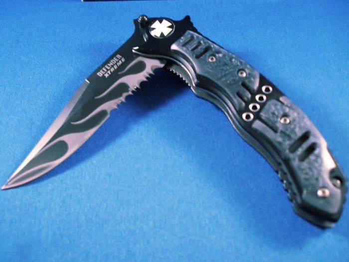 Defender Extreme Black Flame Knife