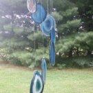 Agate Slice Wind Chime Blue