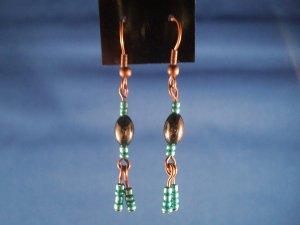 Hematite Tassle Earrings Hand Crafted