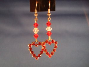 Heart Hand Crafted Earrings