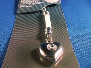 Crystal Heart Cell Phone Charm