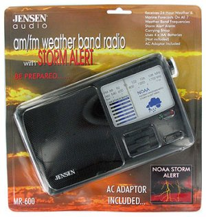 JENSEN AM/FM WEATHER BAND RADIO (Model: MR600)