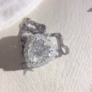 Heart Cut Moissanite Diamond Pendant Necklace For Women