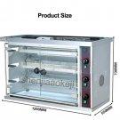 Gas Rotisserie BBQ oven multi-function 3-row duck equipment stainless steel roast oven 220V