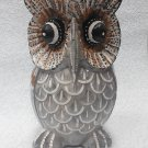 Statuette of a wooden owl, owl tree, statue of an owl,wise Owl