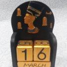 Wooden perpetual calendar, calendar tree, desktop calendar, office calendar