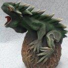 Figurine wooden lizard, candlestick lizard, candlestick, lizard, candle holder