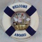 Lifebuoy decorative, ship, life ring, painting, wall decor, marine souvenir, sailfish