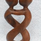 Statuette couple in love wooden abstraction, wooden statuette in love, abstraction in love