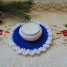 Candlestick knitted handmade, New Year candlestick, Christmas candlestick, decorative candlestick