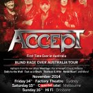 Accept CD -  Factory Theatre Sydney 2014