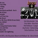 Accept CD -  Holland 1980
