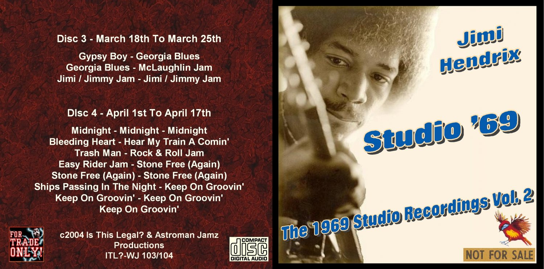 Jimi Hendrix CD - 1969 Studio - Vol. 2
