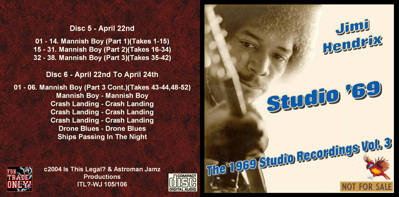 Jimi Hendrix CD - 1969 Studio - Vol. 3