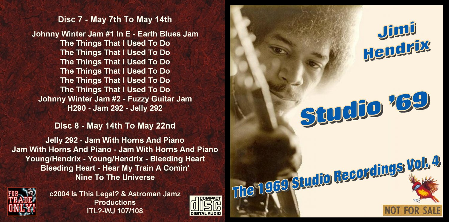 Jimi Hendrix CD - 1969 Studio - Vol. 4