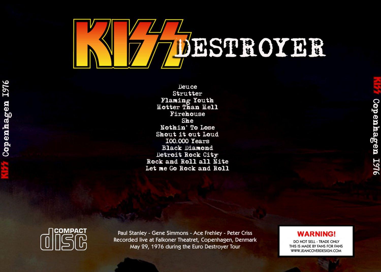 KISS CD - Copenhagen Denmark 1976-05-29