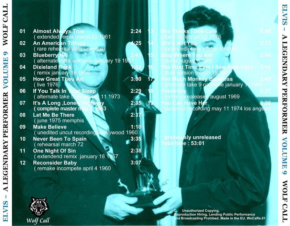 Elvis Presley CD - A Legendary Performer Vol. 9