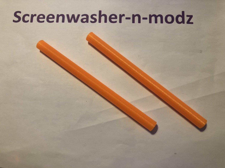 Tie Bar Rod, Splitter Strut 200mm support covers fluroscent orange