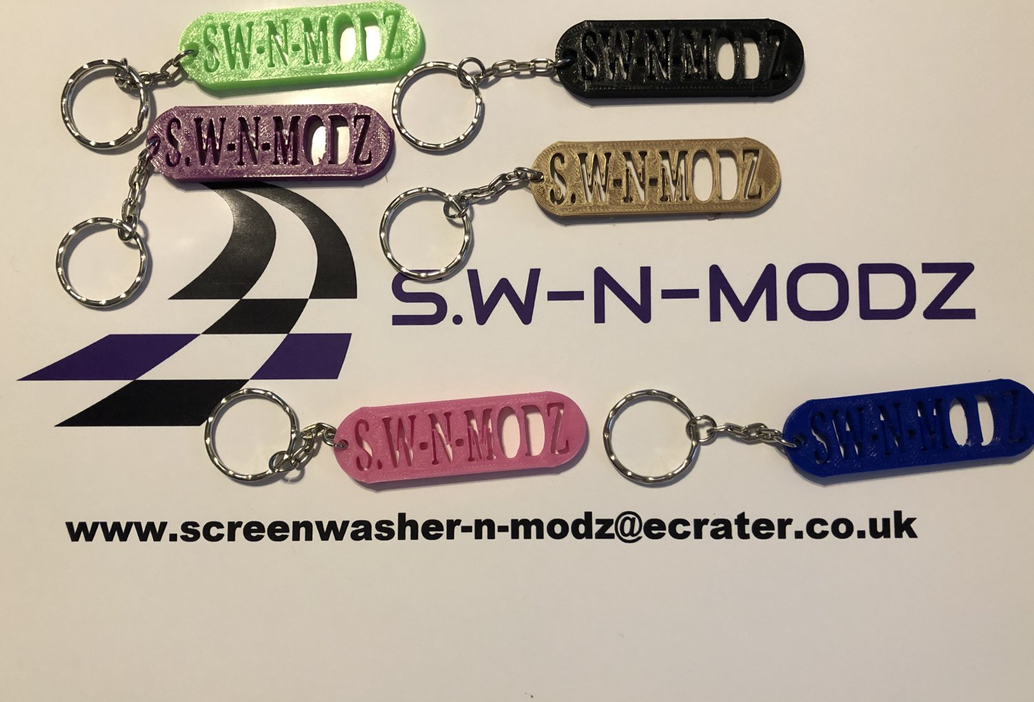 SW-N-MODZ Keyrings any colour