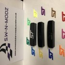 Gloss black cubby holes with coloured ST logo of your choice