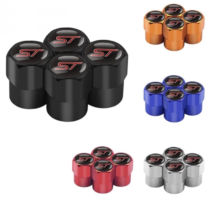 Fiesta st metal dustcaps red 4 pk