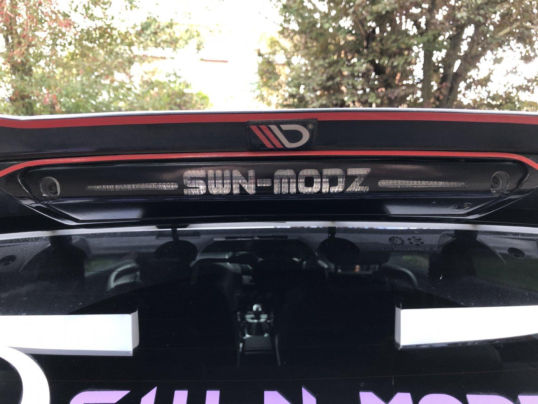 Fiesta middle brake light wrap vinyl sticker custom name
