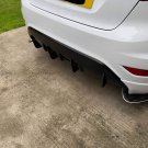 Ford Fiesta MK7 Zetec-s Pre Facelift lower diffuser fins kit many colours
