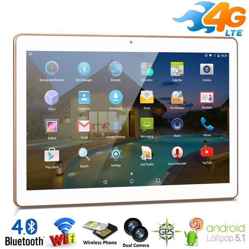 """10""""inch 4G Phone Call Android5.1 Tablet PC 16GB Dual SIM/Cam Quad Core WIFI GPS"""