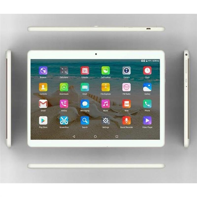 10.1 Inch Tablet PC Dual Sim Phone Pad Tablet PC Phablet with EU Plug (Golden 2+