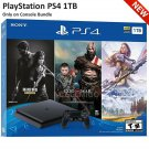 PlayStation 4 Slim ONLY ON BUNDLE (1TB) PS4 Console w/ Controller (US Warranty)