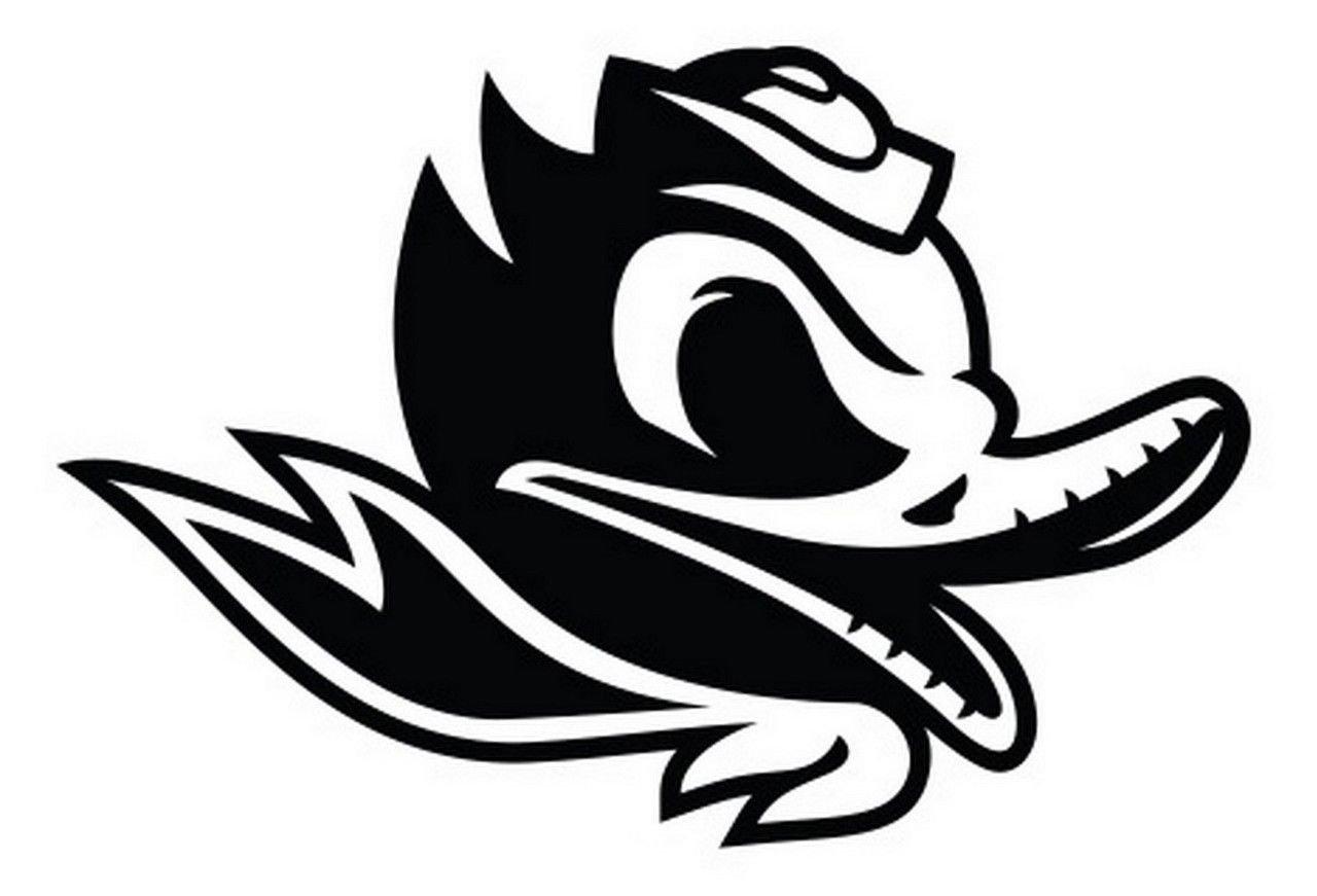 Ncaa480 Oregon Ducks Old School Mascot Die Cut Vinyl