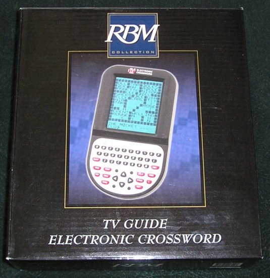 TV Guide Electronic Crossword Excalibur New