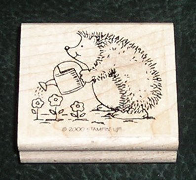 Rubber Stamp Mounted On Wood Hedgehog By Stampin' Up! 2000
