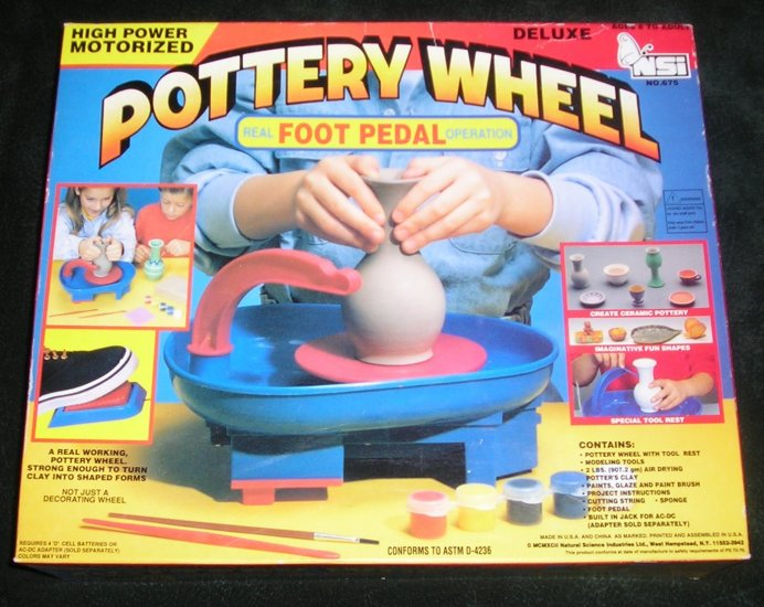 Pottery Wheel Motorized Deluxe With Foot Pedal NSi