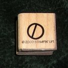 Rubber Stamp Mounted On Wood No Sign By Stampin' Up! 2000