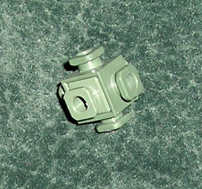 20 Construx 6-Peg Knot Connector Nuts Military Green Fisher Price From 1986 Spare Parts
