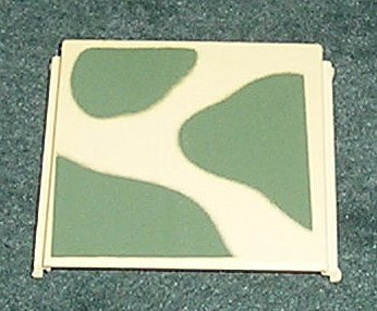 10 Construx Square Panel Military Green Fisher Price From 1986-1988 Spare Parts