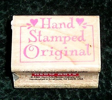 Rubber Stamp Mounted On Wood Hand Stamped Original By Hero Arts #A1355 From 1998
