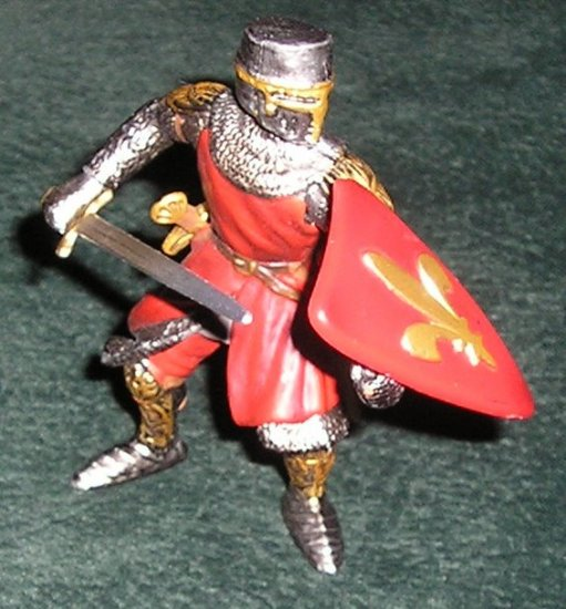 Knight Figure Foot Soldier With Sword Fleur-De-Lis Coat of Arms #70024 By Schleich