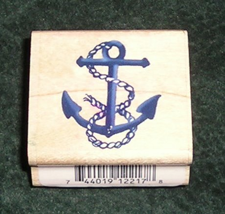 Rubber Stamp Mounted On Wood Rope Anchor By Stampendous C133 From 1997