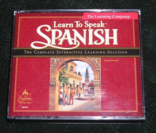 Learn To Speak Spanish Version 8.0 By The Learning Company 4 CD's